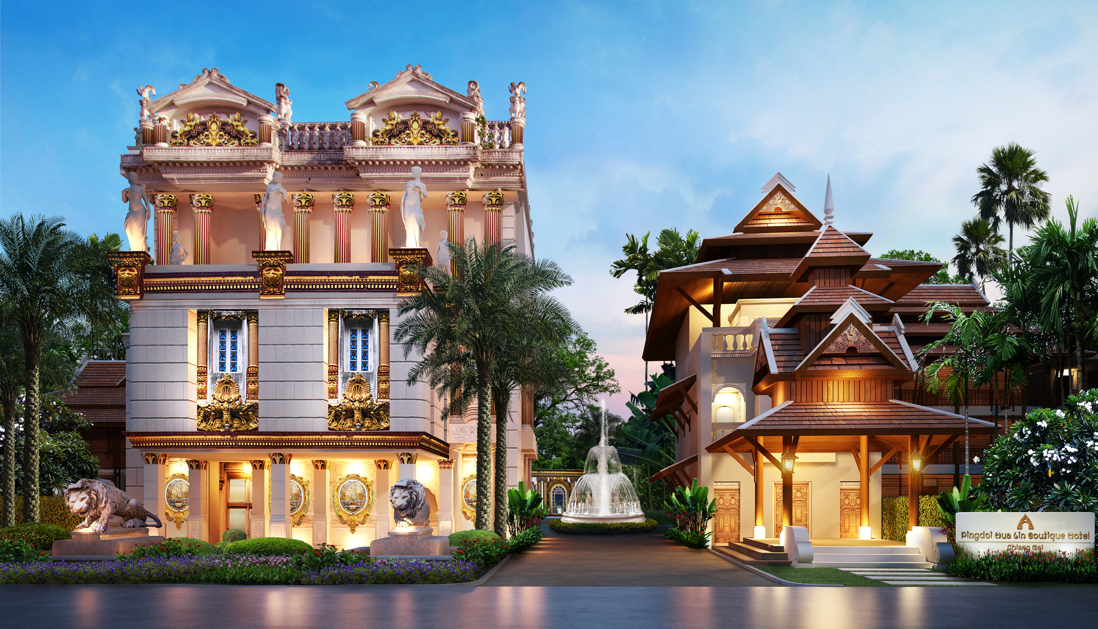 Hotel hotel entrance final pingdoi hualin boutique hotel for Boutique hotel 2016